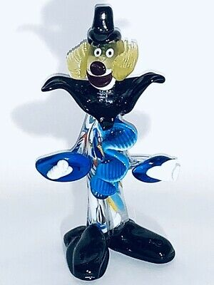 Fabulous CollectiblOriginal Vintage Handmade Murano Colorful Clown Blown Glass