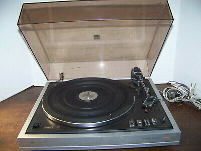 vintage Philips Turntable 222 RECORD PLAYER 33/45 RPM Holland WORKS!