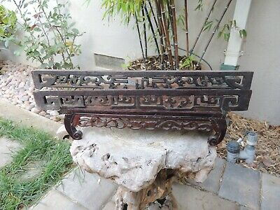 982P. Antique Carved Wood Panel with two pcs/set