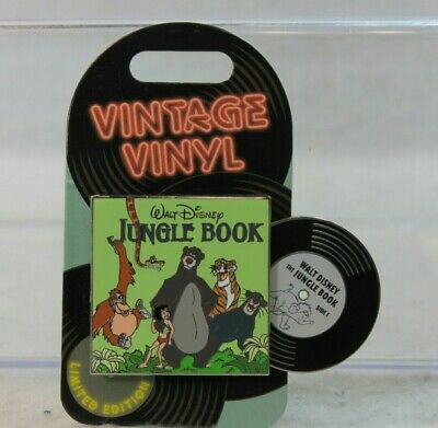 Disney Parks LE 3000 Monthly Pin of the Month Vintage Vinyl Jungle Book