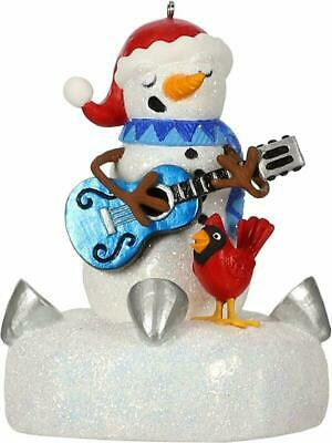 Hallmark Keepsake Ornament 2019 Year Dated Snowman With Light And Sound (Plays B