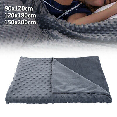 Winter Weighted Gravity Blanket Cover Sensory Kid Adult Sleep Reduce Anxiety US