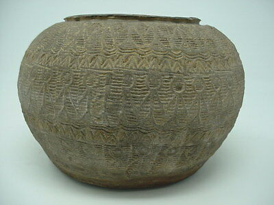 HAN VIETNAM PERIOD, 1st. to 3rd. CENTURY ANCIENT DECORATED POT, MUSEUM QUALITY