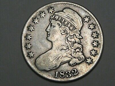 1832 US Bust Half Dollar (VF w/ Light Cleaning).  #2