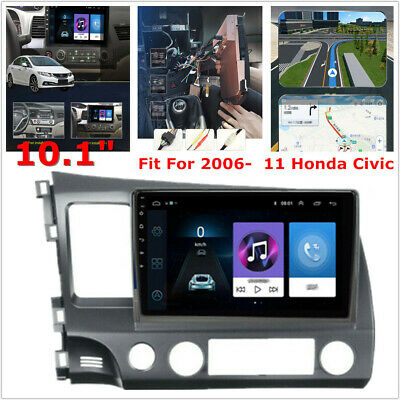 """Fit For 06-11 Honda Civic 10.1"""" Android Stereo Radio GPS Navigation 2+32GB Wifi"""