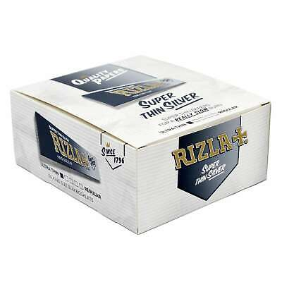 Full Box of 50 Rizla Silver King Size Slim Cigarette Rolling Papers😱😱😱