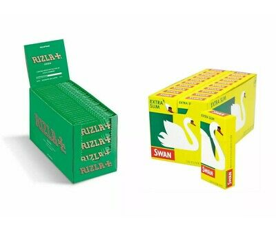 1200 Rizla Green Cigarette Rolling Papers and 1200 Swan Extra Slim Filter Tips😱