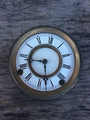 Antique Small Porcelain Wall / Shelf  Clock Dial with Hands, P/R