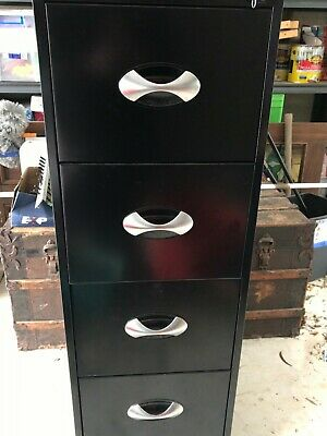 Calibre 4 Drawer Filing Cabinet - Black in excellent condition