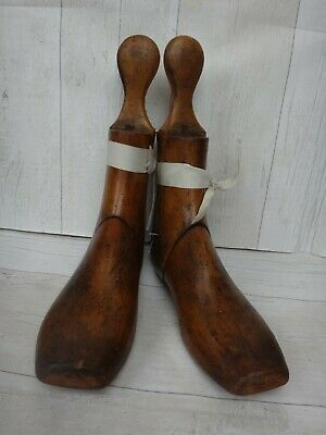 Vintage Pair of Wooden 3 Part Boot Lasts