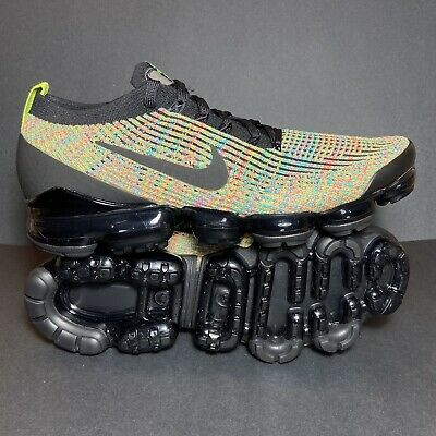 New Size 10 Mens Nike Air Vapormax Flyknit 3 Black Running Shoes AJ6900-006 🔥