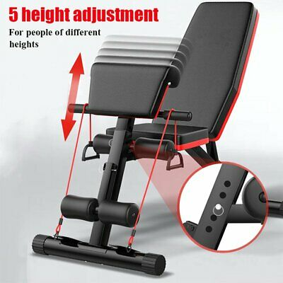 Weight Bench Barbell Dumbbell Lifting Press Abs Fitness Max Cap350KG ~Home/Gym