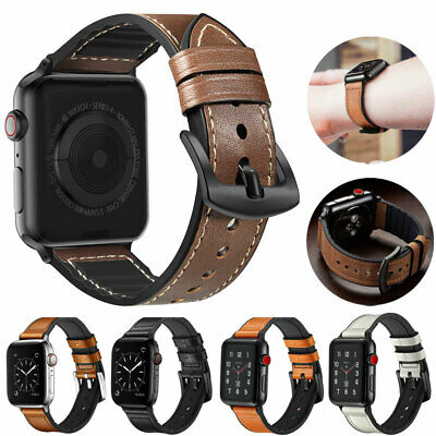 Genuine Leather Replacement Band Strap For Apple Watch 5 4 3 iWatch 38/44/40/42