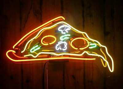 New Artwork Delicious Dripping Pizza Slice Handmade Neon Sign Light Wall Decor