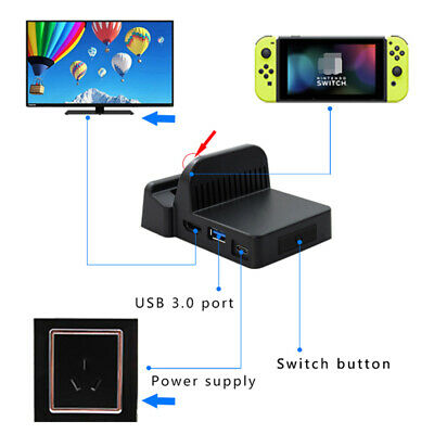 ABS USB3.0 Type-C HDMI Charging Dock Converter Adapter For Nintendo Switch Host