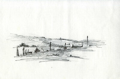 Sydney Vale FRSA - Set of 4 Mid 20th Century Pen and Ink Drawings, Farm Views