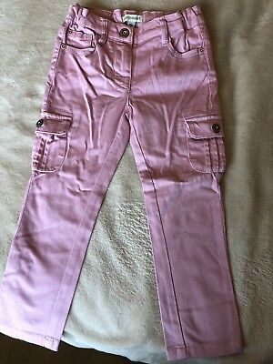 Vertbaudet girls pink trousers size 2-3 years VGC