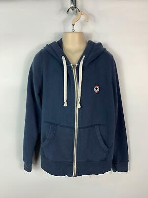Boys Converse All Star Blue Zip Up Casual Hoodie Jumper Hood Top Kids Size Large