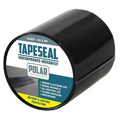 "Polar Waterproof Roof Sealant Tape Repair Rubberized Strong Leak Seal 4"" x 5ft"