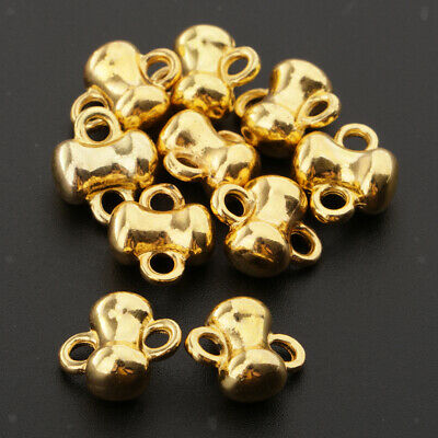 10x Alloy Golden Plated Jingle Bells ,Jewelry Making Finding ,Shinny Decors
