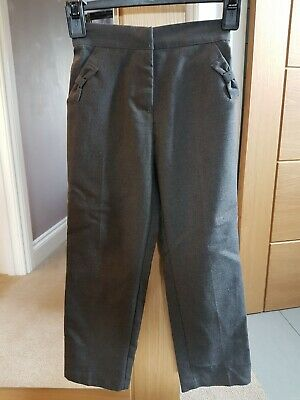 George Age 6-7 Years Grey School Trousers Worn Once with adjustable waist