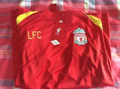 New Liverpool FC Official Football Gift MensTraining Kit T-Shirt size Large