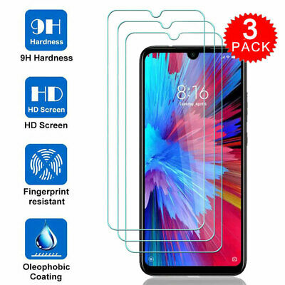 3Pack 9H Tempered Glass Film Screen Protector for Xiaomi CC9 Redmi 8 8A Note 8 7