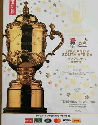 England v South Africa, Yokohama - Nov 2019, Rugby World Cup final programme