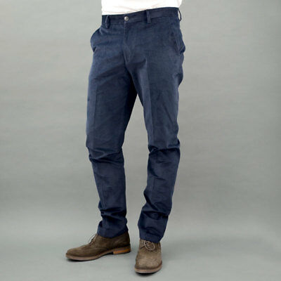 Conte of Florence Trousers Velvet Colorado Blue Blue Mod. COLORADO-130