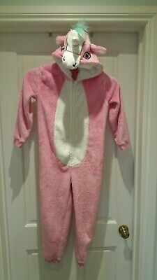 Childs girls Unicorn all in one 1Onesie Pink George 128-135cm age 8-9