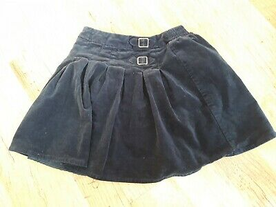 Girls Navy cord skirt age 5-6yrs. Vgc Nutmeg