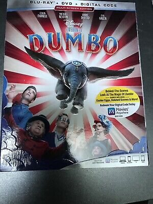 Dumbo (Blu ray + DVD + DIGITAL CODE) BRAND NEW