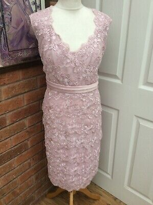 Jacque Vert Size 18 Mother Of The Bride / Occasion Dress Pink/ Lace Unworn