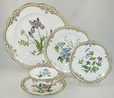 "Spode Bone China England ""STAFFORD FLOWERS"" 5 Piece Place Setting / New"
