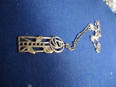 Grandmas Estate 925 Sterling Silver Rare Rose Necklace