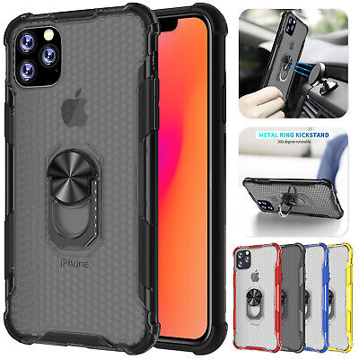 For iPhone 11 Pro Max XS XR 7 8 Plus Case Slim Hybrid Ring Stand Magnetic Cover