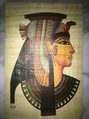 Egyptian Antiques old  Pharaonic Papyrus Queen Celiopatra  Cleopatra art paper