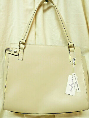ALBERTA DI CANIO made in Italy MELISSA genuine Beige leather HAND BAG NWT NICE!