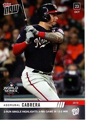 Asdrubal Cabrera 2019 Topps Now 1049 World Series Washington Nationals