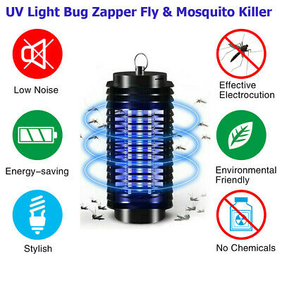 Electric UV Insect Bug Zapper Fly Trap Mosquito Killer Lamp For Home Indoor Use