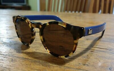 Sunglasses By PAGANI - Made In Italy Womens Tortoise Shell & Blue Sunglasses