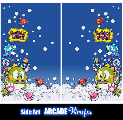 Bubble Bobble Arcade Side Artwork Panel Stickers Graphics / Laminated All Sizes