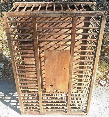 Vintage Chicken Crate WJ Carpenter Primitive Farm Rustic Upcycle Coffee table