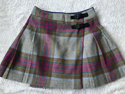 Girls Mini Boden Johnny B Kilt,Skirt,Pink & Grey,11-12Yr