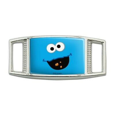 Sesame Street Cookie Monster Face Rectangular Shoe Shoelace Tag Gym Charm