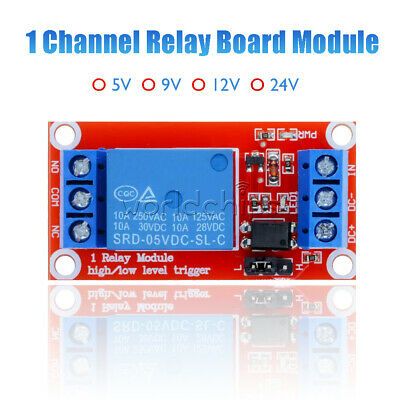 1 Channel 1CH Relay Module High Low Level Trigger w/ Optocoupler DC 5V/9V/12V/24