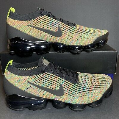 New Size 11 Mens Nike Air Vapormax Flyknit 3 Black Running Shoes AJ6900-006 🔥