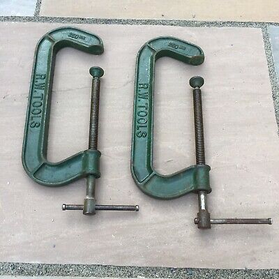 """Vintage RW Tools 250mm 10"""" G Clamps"""