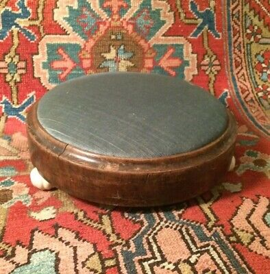 Small Victorian Foot Stool With Ceramic Feet