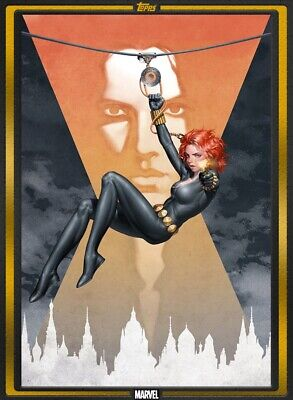 Marvel Collect Topps Card Trader Gold Comic Black Widow